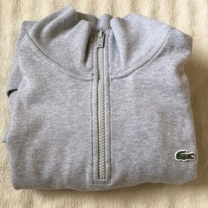 Lacoste 1/4 zip Cotton Long Sleeved Pullover